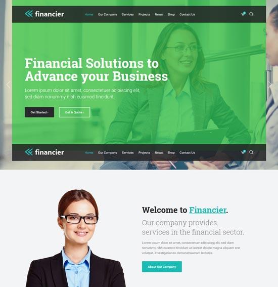 financier finance broker WordPress theme