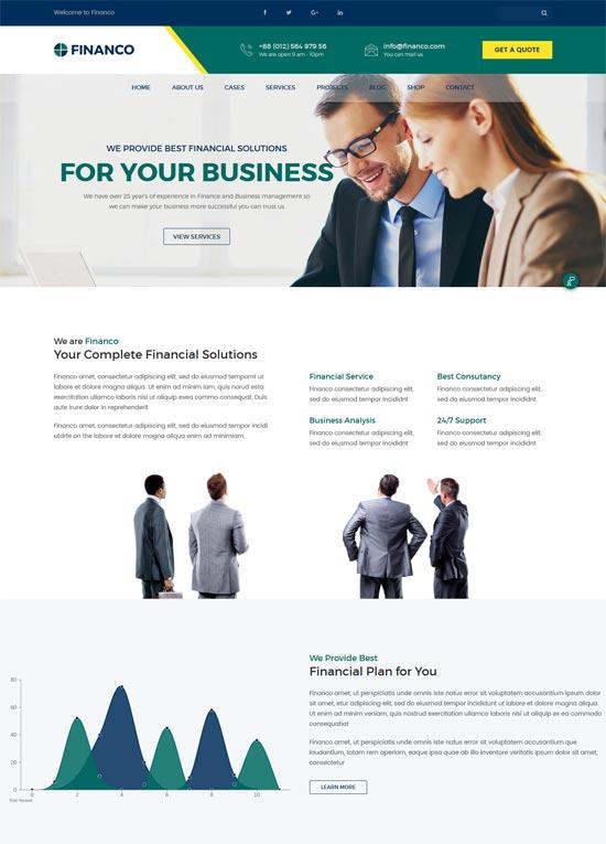 financo finance investment html template