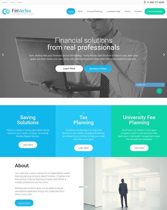 finvertex-finance-website-template