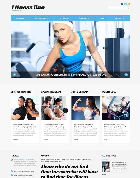fitness club for profit joomla template