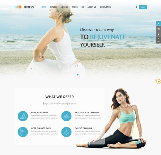 fitness joomla yoga club template