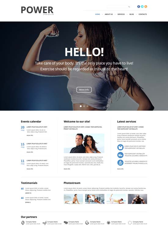 fitness responsive joomla template 47108