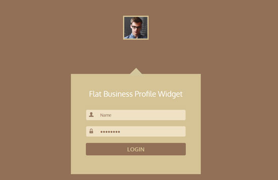 flat business profile login form template