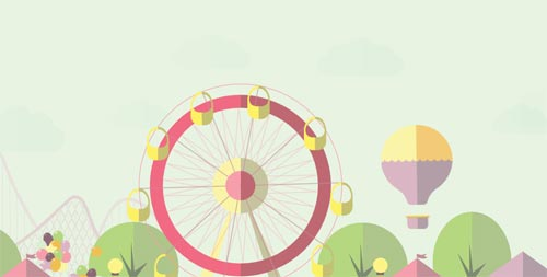 flat design amusement park svg html5