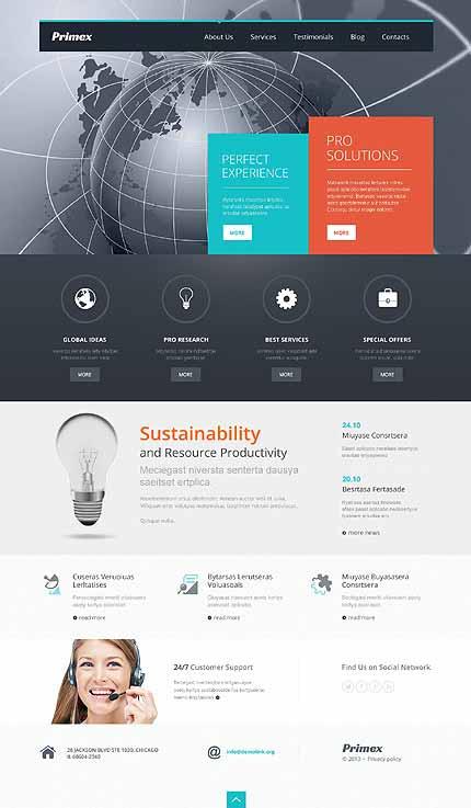Outsourcing Company Responsive WordPress Theme