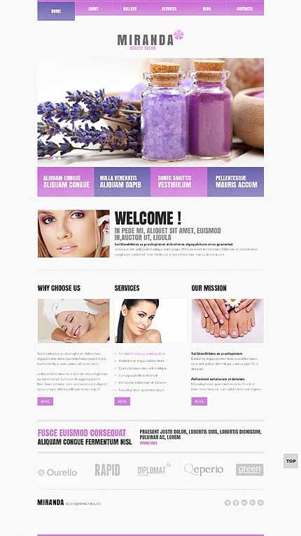 Beauty Salon Responsive WordPress Theme