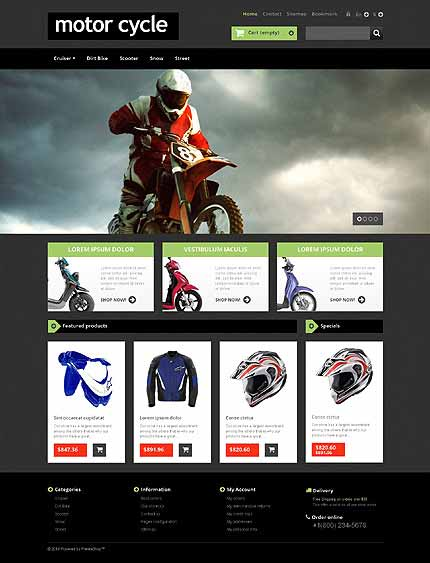 Bike Shop Responsive PrestaShop Theme