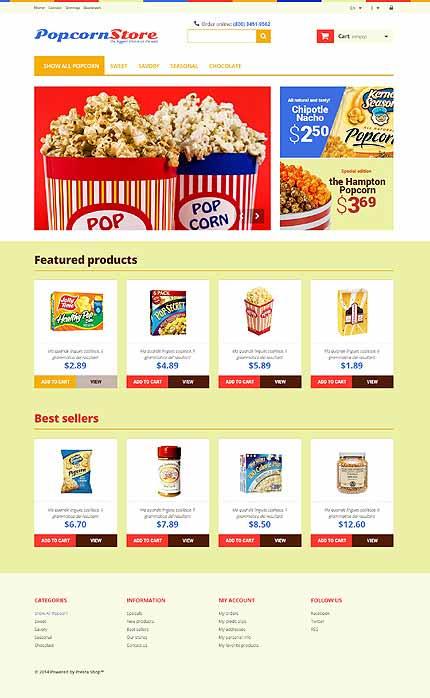 Food & Drink Responsive PrestaShop Theme
