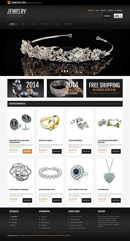 Jewelry Responsive Jigoshop Theme