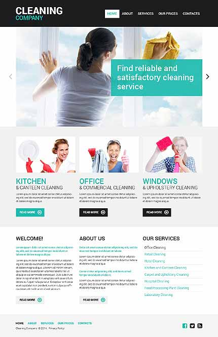 Cleaning Responsive Website Template