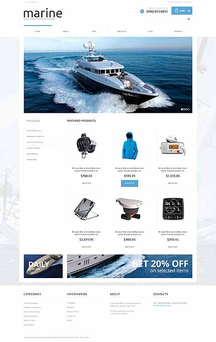 Yachting Responsive Jigoshop Theme