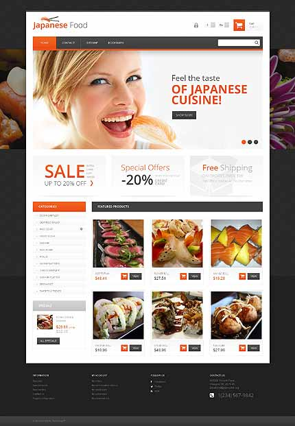 Japanese Restaurant Responsive PrestaShop Theme