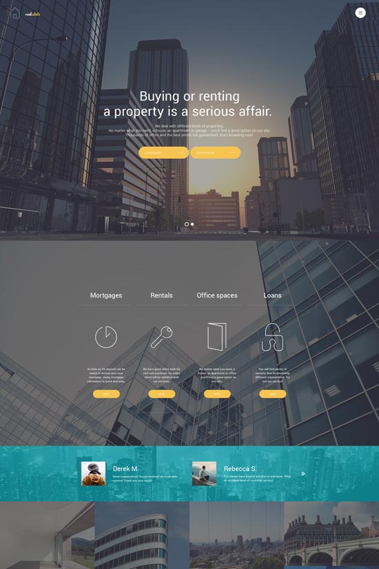 flat real estate responsive joomla template