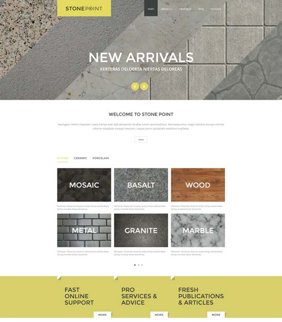 flooring materials joomla template