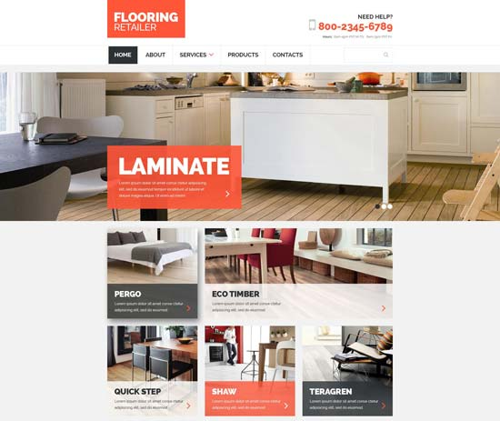 flooring responsive website template 54725