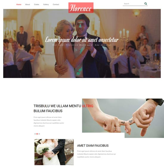 florence free wedding planner bootstrap template