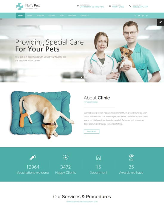 fluffypaw pet care html template