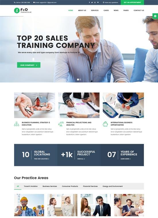 fo consultant finance html templates