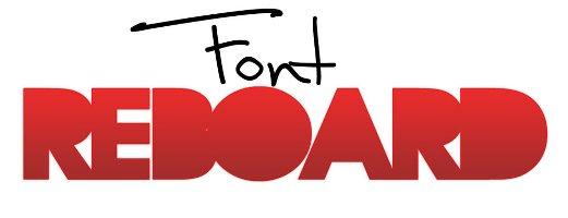 font reboard free fonts design