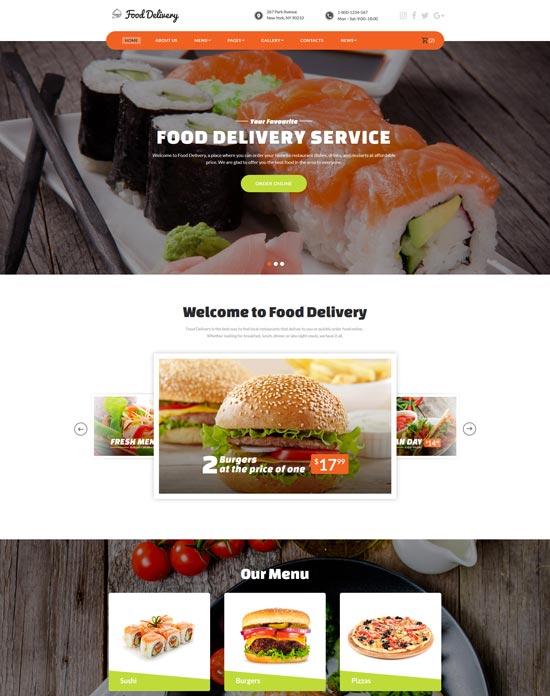 food ordering service website template