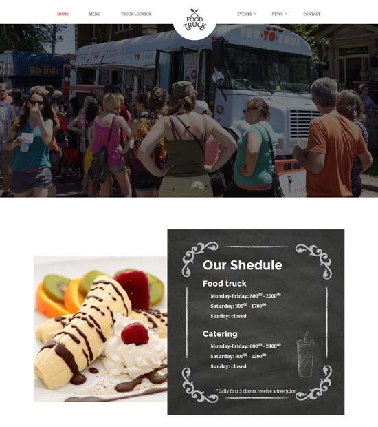 food truck restaurant html template