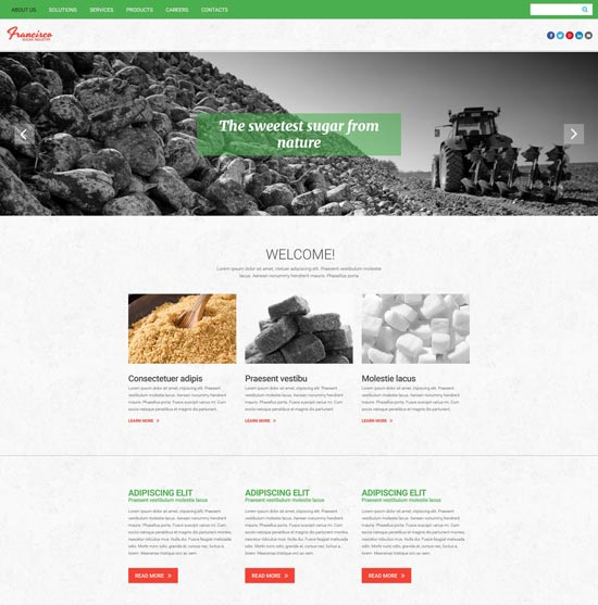 francisco-sugar-industry-website-template