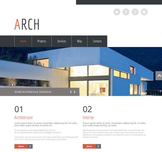 architecture html5 theme