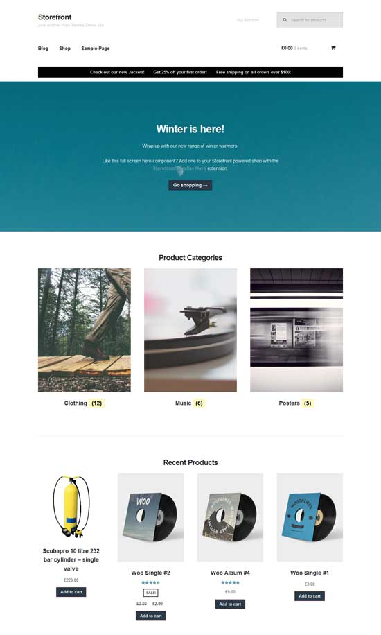 free-WordPress-theme-with-WooCommerce