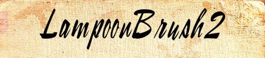 LampoonBrush2 free beauty fonts