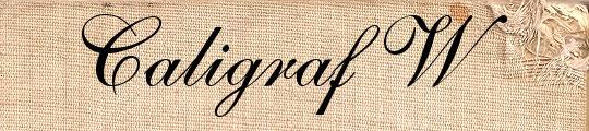 Caligraf W free handwriting fonts