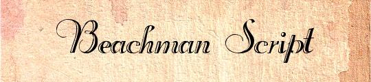 Beachman Script cool free fonts