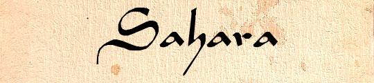 Sahara-Normal free font