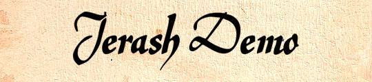 Jerash demo free font