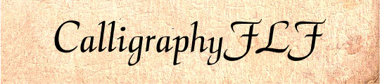 CalligraphyFLF free fonts for teachers