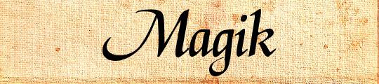 Magik free font design