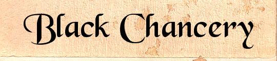 Black Chancery free font design