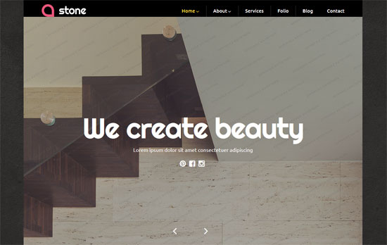 free interior design WordPress theme