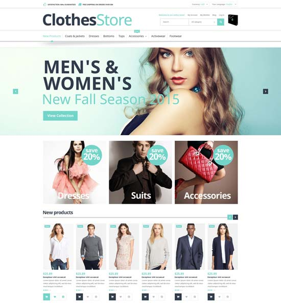 free magento template for clothes store