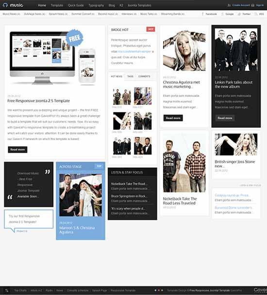 free-music-news-joomla-template