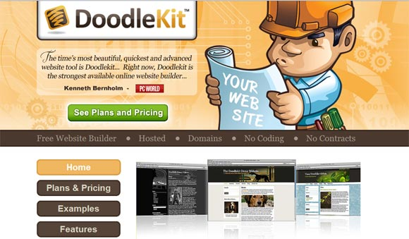 Free Online Website Builder  -  Doodlekit