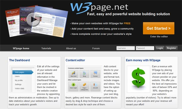 Free Online Website Builder  -  W3page