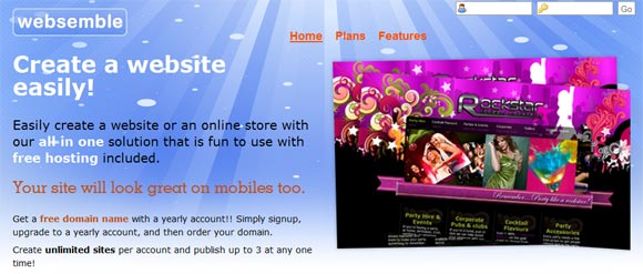 Free Online Website Builder - Websemble