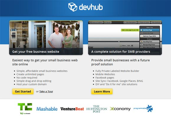 Free Online Website Builder - Devbub