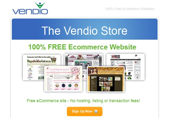 Free Online Website Builder - Vendo