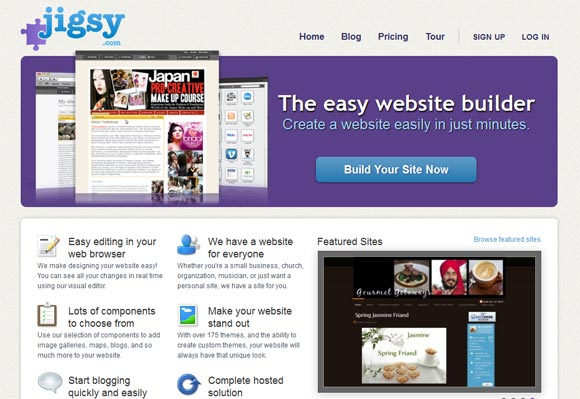 Free Online Website Builder - Igsy