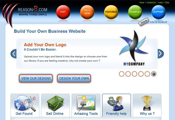 Free Online Website Builder - Reason8