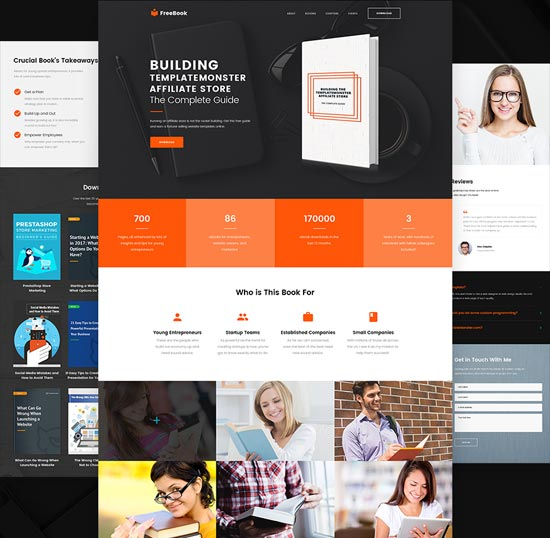 freebook wordpress one-page theme