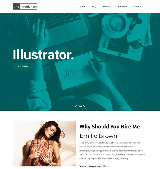 freelancer blogger template