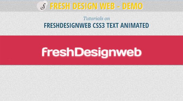 freshDesignweb-CSS3-Text-Animated