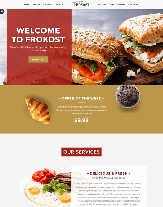 frokost-cafe-one-page-html5